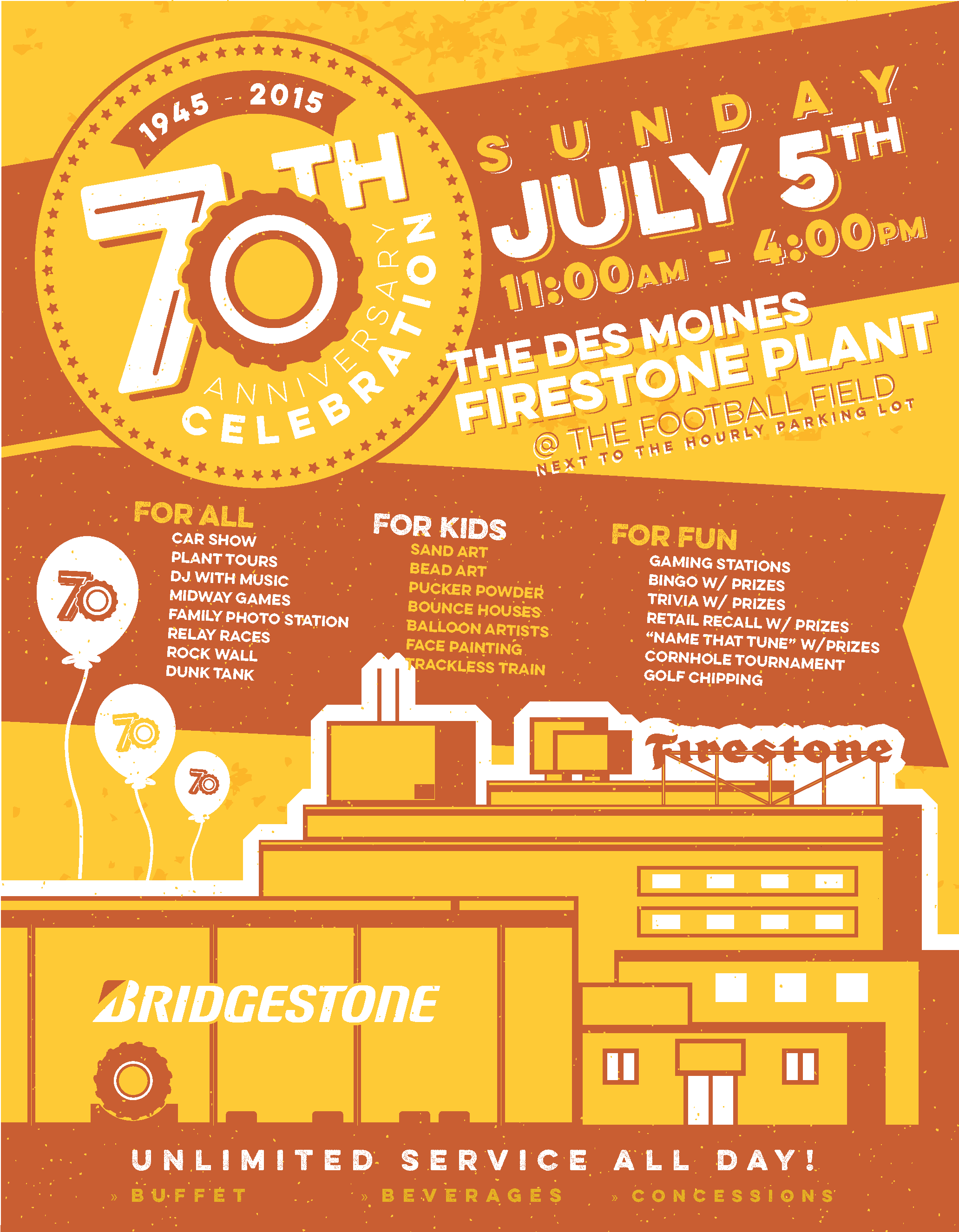 Bridgestone 70th Anniversary Poster
