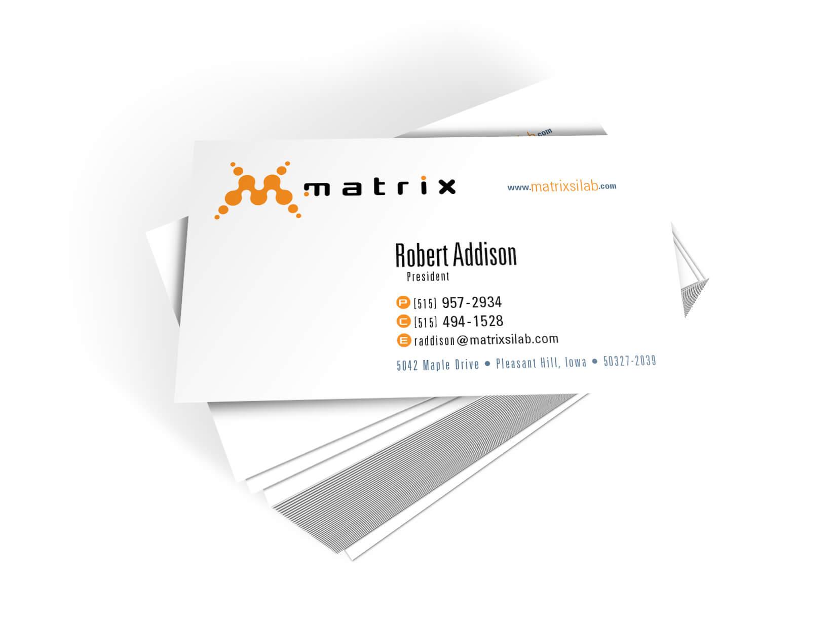 Matrix Business Cards