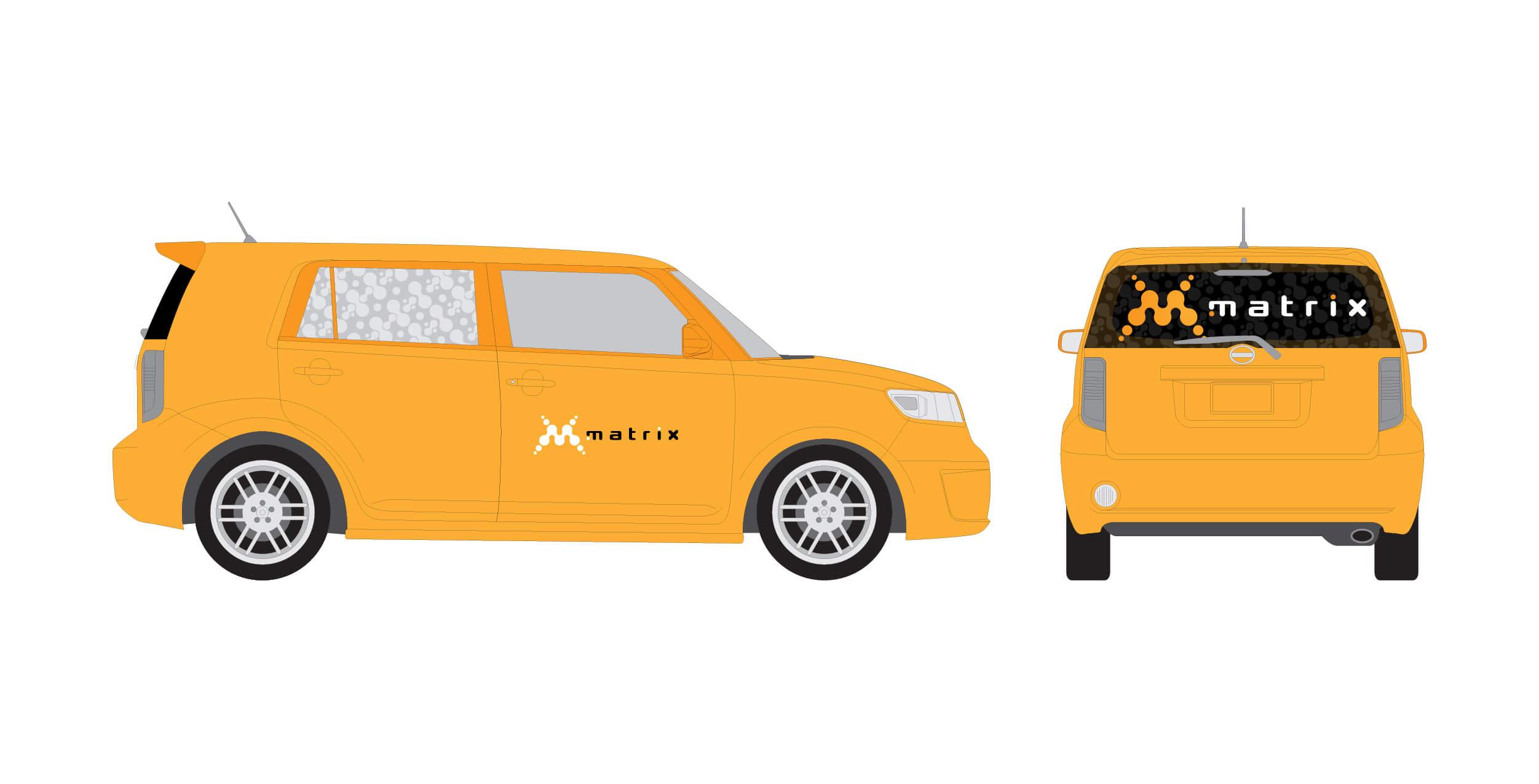 Matrix Car Wrap