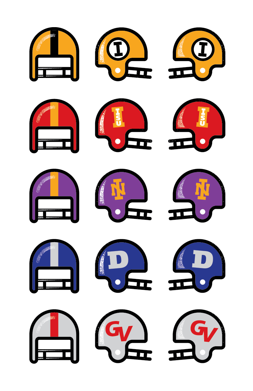 Farmboy designed retro Iowa College Football Helmets