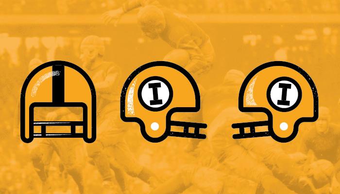 Farmboy Iowa Hawkeyes Retro Football Helmet Graphic