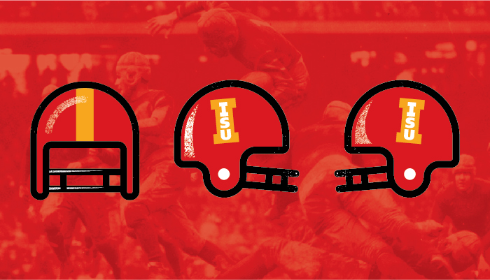 Farmboy Iowa State Retro Football Helmet Graphic