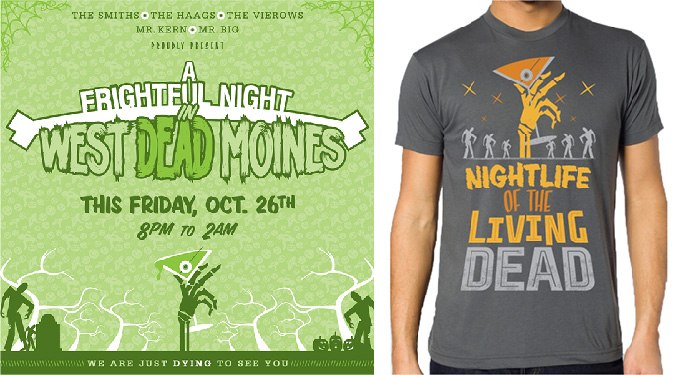 Fright Night 2012 Branding T shirt and Poster