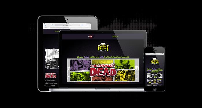 Fright Night 2013 Branding Website
