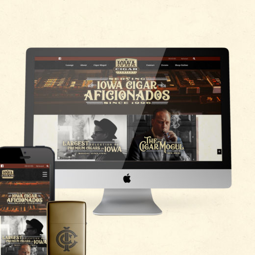 Iowa Cigar Company Branding & E-Commerce Store Website